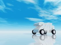 Twenty four hours on the road. 24h on wheels - 3d illustration Royalty Free Stock Photo