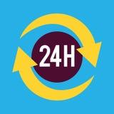 Twenty four hours service icon. Design,  illustration eps10 Royalty Free Stock Photo