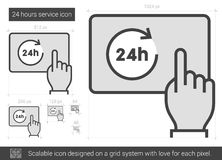 Twenty four hours service line icon. Royalty Free Stock Photography
