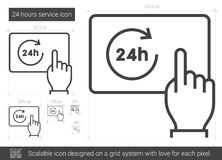 Twenty four hours service line icon. Royalty Free Stock Images