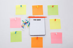 Twenty four hours and seven days a week. Concept write on Office table, notepad and colorful pencil. View from above with copy spa Royalty Free Stock Images