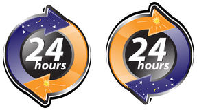 Twenty four hours sign Royalty Free Stock Image