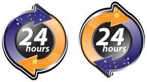 Twenty four hours sign Royalty Free Stock Image