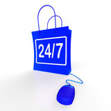 Twenty-four Seven Bags Show Online Shopping Stock Images