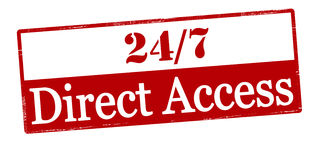 Twenty four seven direct access Royalty Free Stock Photography