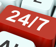 Twenty Four Seven Keys Means All Week. Twenty Four Seven Keys Meaning All Week Days Stock Images