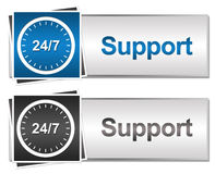 Twenty Four Seven Support Button Style Royalty Free Stock Photos