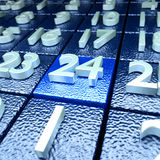 Twenty-fourth kalendarzowy dzień Zdjęcia Stock