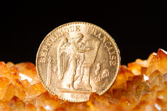 Twenty French Francs coins Stock Image