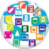 Twenty gadgets Stock Photography