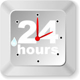 Twenty hours button Royalty Free Stock Image