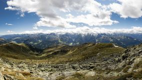 Panoramic view from Kreuzjoch. stock photos