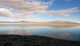 Twenty Mile Beach Walker Lake Western Nevada United States. Walker Lake reflects Chukar Ridge and Mount Ferguson view from 20 mile beach western USA Stock Image