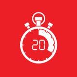 Twenty minute stop watch countdown. A twenty minute stop watch countdown Royalty Free Stock Photos