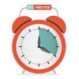 Twenty Minutes Stop Watch - Alarm Clock Illustration Stock Photos