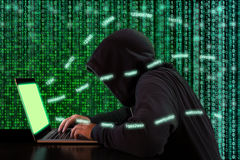 The twenty most common passwords used by a hacker stock photo