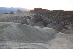 Twenty Mule Canyon from Zabriskie Point on Sunset. Badlands Death Valley royalty free stock photo