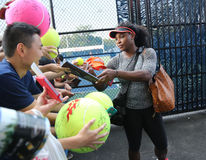 Twenty one times Grand Slam champion Serena Williams signing autographs after practice for US Open 2015 Stock Image