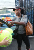 Twenty one times Grand Slam champion Serena Williams signing autographs after practice for US Open 2015 Stock Photography