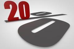 Twenty percent 3d render royalty free stock image