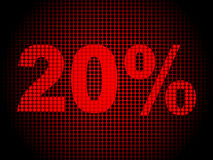 Twenty percent discount background. Vector illustration Royalty Free Stock Photo