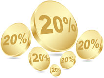 Twenty percent discount background Royalty Free Stock Images