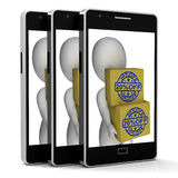 Twenty Percent Off Boxes Phone Show Reduced Price Stock Photos