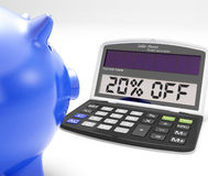 Twenty Percent Off Calculator Means 20 Price Cut Stock Photos