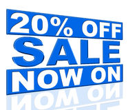 Twenty Percent Off Indicates At This Time And Clearance Royalty Free Stock Images