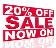 Twenty Percent Off Indicates At This Time And Clearance Royalty Free Stock Photo