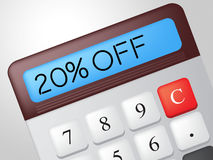 Twenty Percent Off Means Calculator Merchandise And Save Royalty Free Stock Photo