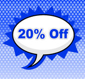 Twenty Percent Off Means Offer Cheap And Discounts Royalty Free Stock Images