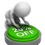 Twenty Percent Off Pressed Means 10 Lower PriceMeans 20 Price Ma Royalty Free Stock Photo