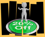 Twenty Percent Off Pressed Shows 20 Off Product Royalty Free Stock Photo