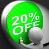 Twenty Percent Off Pressed Shows 20 Price Reduction Stock Photo