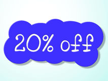 Twenty Percent Off Represents Savings Discounts And Closeout Royalty Free Stock Photography