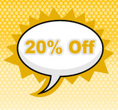 Twenty Percent Off Represents Sign Retail And Promotional Stock Photos
