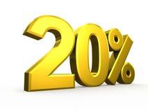 Twenty percent symbol on white background Stock Photography