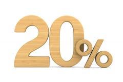 Twenty percent on white background. Isolated 3D illustration.  stock illustration