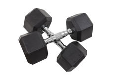 Twenty Pound Dumbbells Isolated Stock Image