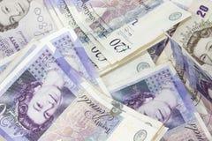 Twenty Pound Note background. Close up shot Stock Image