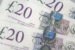 Twenty pound notes royalty free stock photography