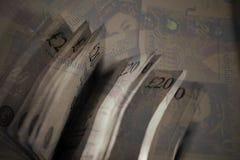 Twenty Pound Notes Blend. A digital image of twenty pound notes edited in photoshop vector illustration
