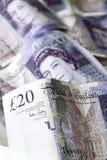 Twenty pound notes Stock Photography