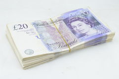 Twenty pound notes Stock Images
