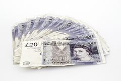 Twenty pound notes Stock Photo