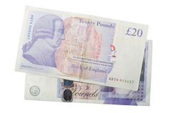 Twenty Pounds Stock Photo Image Of Note Bills Back