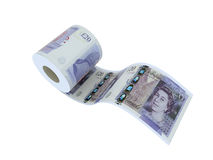 Twenty pounds roll Royalty Free Stock Photo