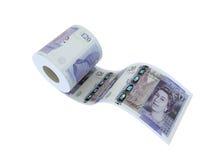 Twenty pounds roll. Twenty pounds toilet paper 3d illustration royalty free illustration
