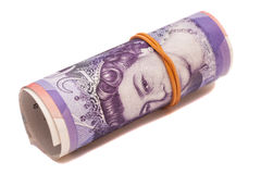 Twenty pounds in roll Stock Image